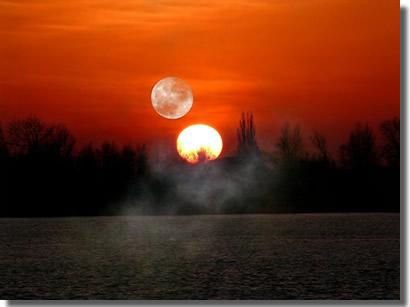 Sonne und Mond, zum natürlichen Haar